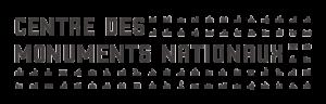 Le centre des monuments nationaux a un logo graphique en noir et blanc
